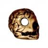 Spacer Skull 10mm Antique Gold